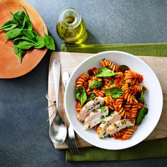 Smoky Sun-Dried Tomato and Roasted Red Pepper Pesto Pasta:
