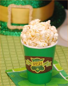 St. Patrick's Day Popcorn Beer Party Treats