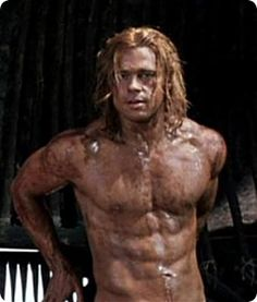 """You always hear dudes say they wanna look like Brad Pitt in """"Fight Club"""". I'd rather have the """"Troy"""" look. """"Let no man forget how menacing we are! We are lions!!!"""""""