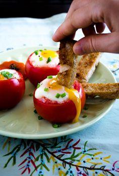 #Egg Stuffed Tomatoe