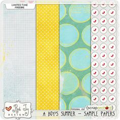 A Boy's Summer paper pack freebie from Red Ivy Designs