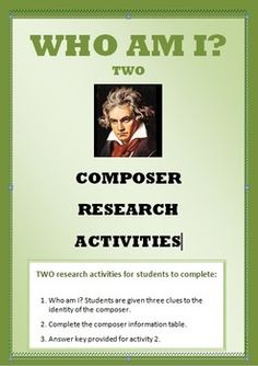 $ MUSIC: FAMOUS COMPOSERS. Research Activity 2