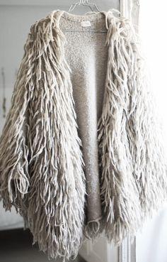 Fabulous shaggy coat.
