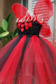 Black and Red Valentine Tutu Dress.