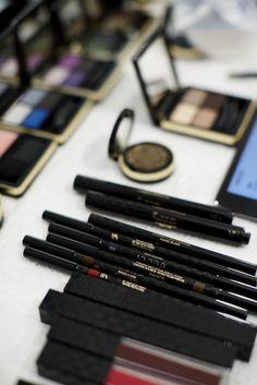 Backstage at the Women's Spring/Summer 2015 show, with the new Gucci Beauty Collection