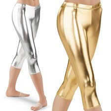 Metallic Capri Leggings; Gold, Silver Balera $15
