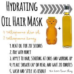 Hair Love: DIY Beauty, Hydrating Oil Hair Mask