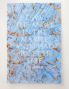 Beautiful marbled posters by Music via Design Work Life.
