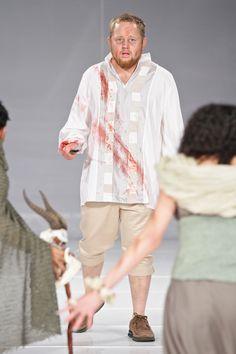 """Macbeth just killed King Duncan.""  Lodewyk Ludik  Designer: Cara Delport  Photo: SDR Photo"