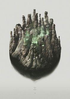 Fire Is Gone - Digital Artwork by Piotr Buczkowski for Daniel Freytag of Berg Studio #artwork