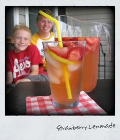 Strawberry Lemonade... the perfect summer-time refreshment!
