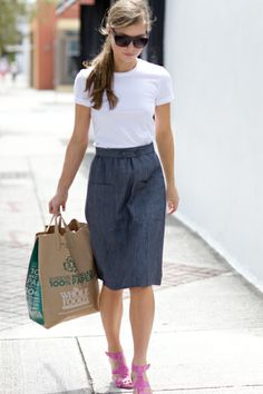Emerson Fry 2 button skirt - I love this whole look!