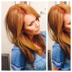 Strawberry blonde hair Loooove !!! This is gold/copper!