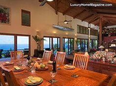 Heavenly Hana: Magnificent Hawaiian Contemporary | Love this dining room!
