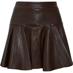Thakoon Leather tulip skirt ($596) ❤ liked on Polyvore