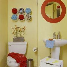 Idéia para o banheiro e porta toalhas
