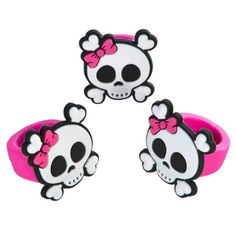 Girly Pirate Rubber Rings (1 Ring) at theBIGzoo.com, a toy store with over 12,000 products.