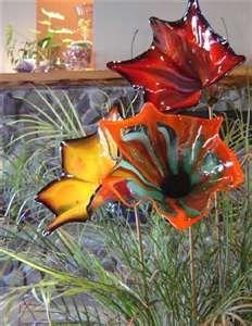 hand blown glass flowers