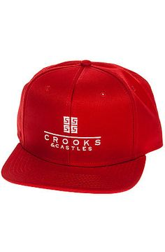 The Thuxury Repeat Snapback Hat in True Red by Crooks and Castles
