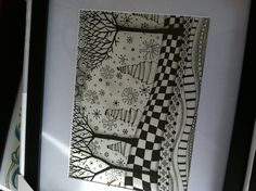 Zentangle winter