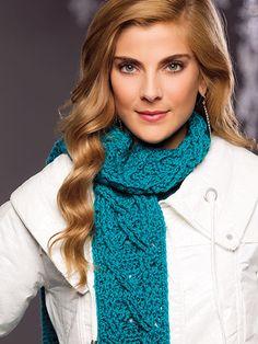 Crochet a winter scarf