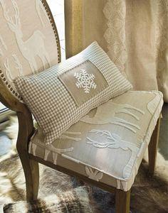 reindeer fabric with snowflake cushion