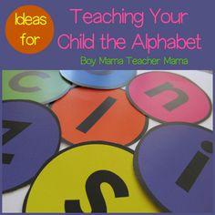 Boy Mama Teacher Mama  Ideas for Teaching Your Child the Alphabet