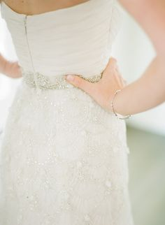 stunning beadwork on this #dress by Kenneth Pool Photography: Lauren Kinsey Fine Art Wedding Photography - laurenkinsey.comRead More: http://stylemepretty.com/2013/10/21/key-west-wedding-from-lauren-kinsey/