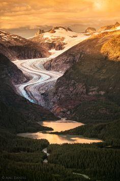 Eagle Glacier at sunset, Alaska  (by Mac Danzig)