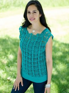 Free crocheted tunic pattern.