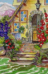 a gardener's cottage - art deco inspired