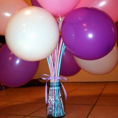 Made These for my daughter's birthday treats for school...BIG pixi stick and a balloon. So easy but so cute!
