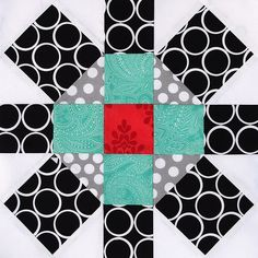 This is a super cute modern interpretation of a traditional quilt block. I may have to try this too!