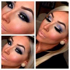 amrezy hair color, eyeshadow, blue, color blend, color smokey, smokey eye
