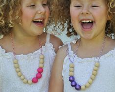 Wooden Necklace DIY by  Curly Birds