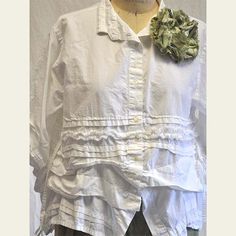 Parlor Shirt - oh yes.. use a men's shirt -- add lace, make texture in fabric-