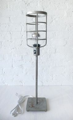 Industrial Cage Table Lamp $125