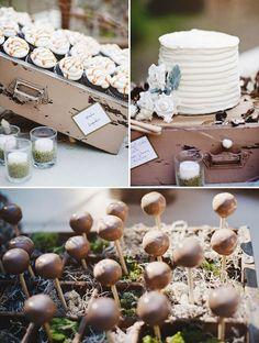 Cake-pop, cupcakes, cake displays... so creative!