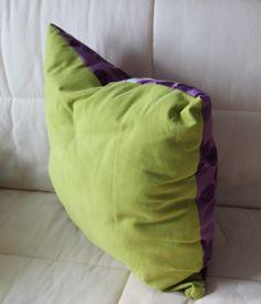 Tuto - Coussin bicolore