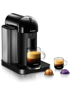 Let's be honest: our mornings don't really start until that much-needed caffeine has been downed. Nespresso VertuoLine Single Serve Brewer & Espresso Maker expertly and quickly pours out rich coffee and espresso. Start your day with the delicious boost you need!