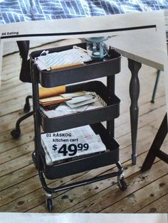 Ikea Raskog cart in dark gray
