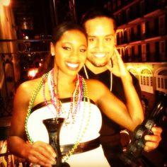 WWE Diva Naomi (Trinity McCray) & her fiance WWE Superstar Jimmy Uso (Jonathan Fatu) in New Orleans, LA