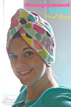 Monogrammed Towel Head Wrap