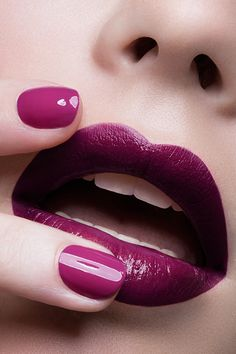 Perfect purple lips and nails