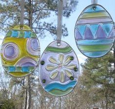 Stained Glass Easter Eggs Suncatcher Set of 3 NEW via Rumma.ge