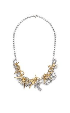 Voila Crystal Necklace With Twisted Nails by Tom Binns
