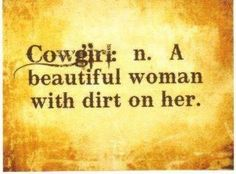 Cowgirl is..~
