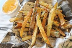 Garlic French Fries Done in the Oven garlic fri, french fries, garlic french, ovens