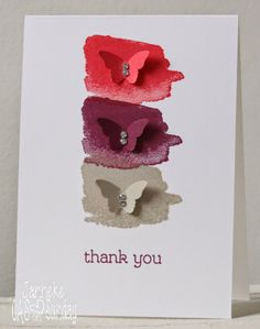 Stampin' Up New In Colors would make this a perfect card!!  Painted butterflies