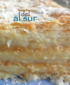 Alsurdelsur: Hojaldre con crema pastelera